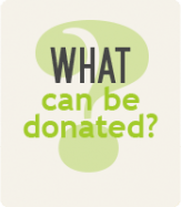What Can Be Donated